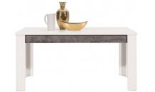 Jídelní stůl BRANDO B10 rozkládací bílý lesk/beton