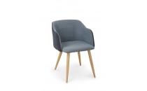Jídelní židle K288 granátová/modrá