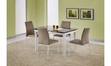 Jídelní stůl ALSTON béžový/bílý