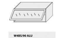 Horní skříňka kuchyně TITANIUM W4BS 90 ALU bílá