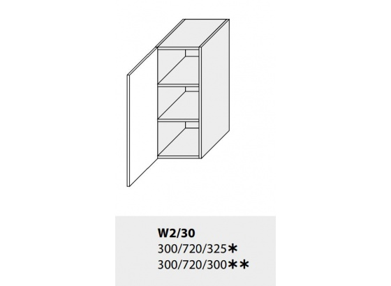 Horní skříňka kuchyně TITANIUM W2 30 grey