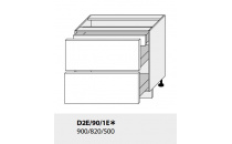 Dolní skříňka kuchyně Quantum D2E 90 1E/grey