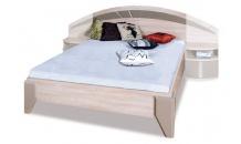 Postel DOME DL2-1 160x200 bez nočních stolků dub sonoma/cappuccino lesk