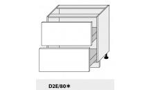 Dolní skříňka kuchyně Quantum D2E 80/grey