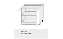 Dolní skříňka kuchyně TITANIUM D11 90/grey