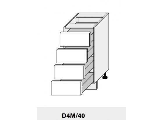 Dolní skříňka kuchyně Quantum D4M 40/grey