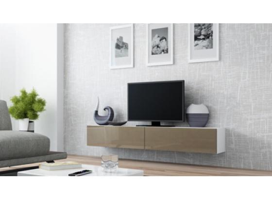 TV stolek VIGO RTV 180 bílý mat/latte lesk