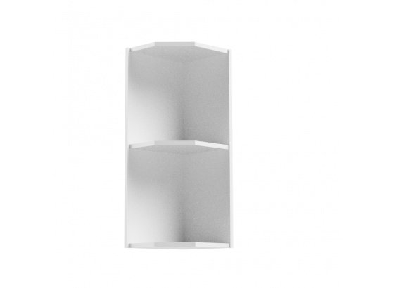 Horní skříňka ASPEN G25PZ rohová bílá