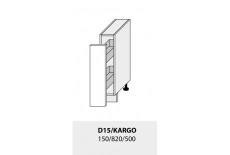 Dolní skříňka kuchyně TITANIUM D15 + Cargo/grey