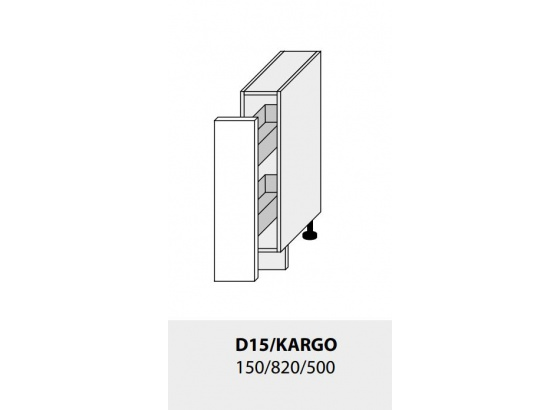 Dolní skříňka kuchyně TITANIUM D15 + cargo grey