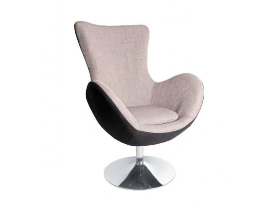 Relaxační křeslo BUTTERFLY černá/šedá