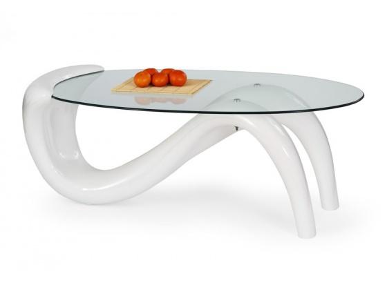 Konferenční stolek CORTINA  bílý