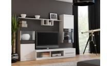 Obývací stěna NICK bílý mat/černý lesk