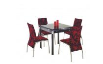 Rozkládací jídelní stůl KENT černý