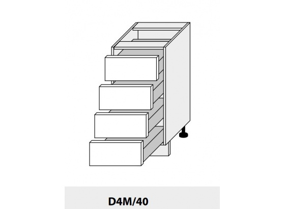 Dolní skříňka PLATINIUM D4M/40 grey