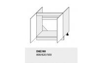 Dolní skříňka kuchyně TITANIUM D8Z 80 vestavba pro dřez/grey