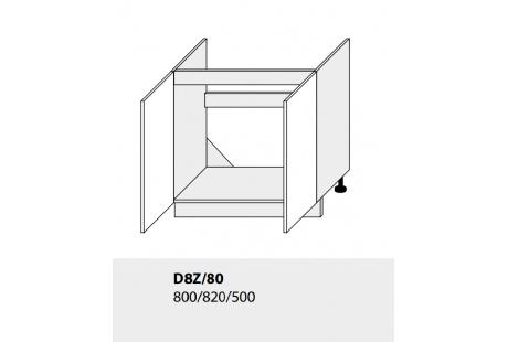 Dolní skříňka kuchyně TITANIUM D8Z 80 vestavba pro dřez grey