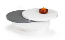 Konferenční stůl MICHELLE bílý/šedý