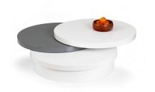 Konferenční stolek MICHELLE bílý/šedý