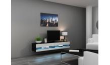 TV stolek VIGO NEW RTV 180 černý mat/bílý lesk