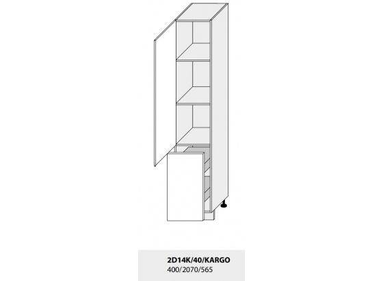 Skříňka na potraviny PLATINIUM 2D14K/40/Cargo lava