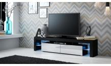 TV stolek SOLO RTV černý mat/bílý lesk