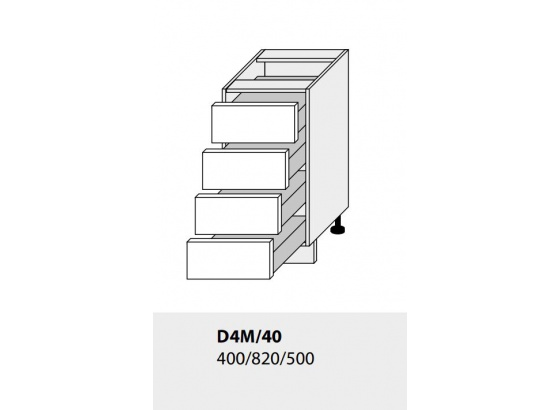 Dolní skříňka kuchyně TITANIUM D4M 40 grey