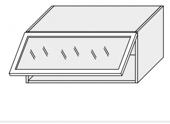 Horní skříňka PLATINIUM W4BS/80 MDF bílá