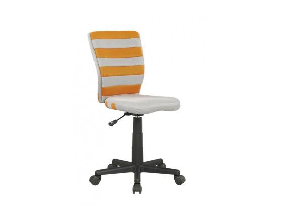 Dětská židle FUEGO šedo-oranžová