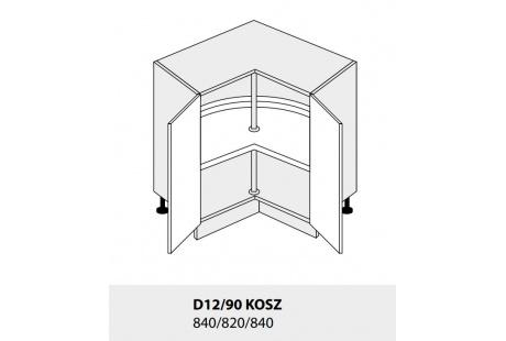 Dolní skříňka PLATINIUM D12/90 kargo jersey