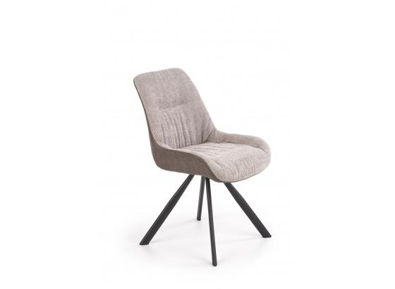 Jídelní židle K393 světle šedá /tmavě hnědá