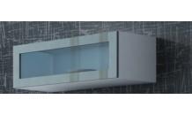 Vitrína VIGO 90 sklo bílý mat/šedý lesk