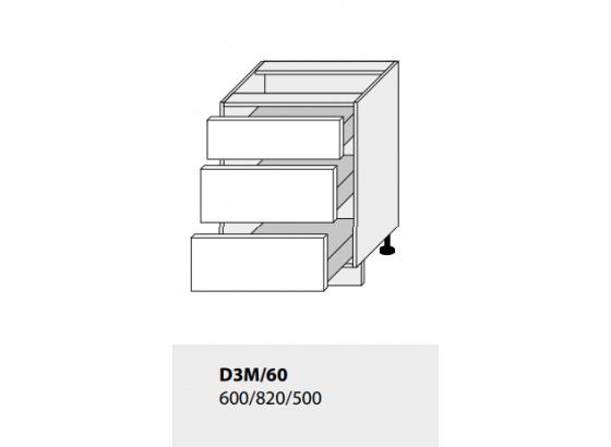 Dolní skříňka kuchyně GOLD LUX D3M 60