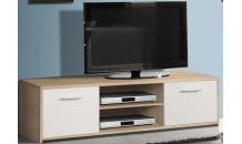TV stolek QUADRO QDRT13 dub sonoma/bílá