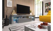 TV stolek TORO 158 RTV šedý mat/šedý lesk/šedý lesk