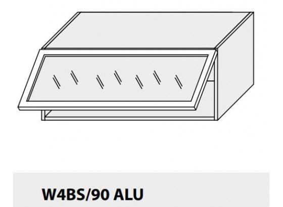 Horní skříňka kuchyně TITANIUM W4BS 90 ALU jersey