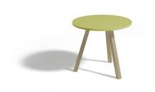 Konferenční stolek ALAN kulatý 60 zelená matná