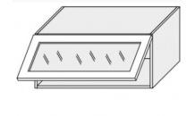 Horní skříňka EMPORIUM W4bs 80 WKF sklo bílá