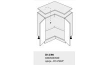 Dolní skříňka kuchyně Quantum D12 90/grey
