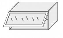 Horní skříňka EMPORIUM W4bs 80 ALU sklo bílá