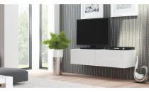 Televizní stolek LIVO RTV 160W bílý/bílý lesk