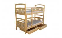 Patrová postel HERMAN II 90x200 borovice včetně matrace a úložného prostoru