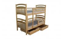 Patrová postel TEODOR II 90x200  včetně matrace a úložného prostoru