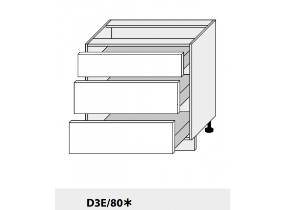 Dolní skříňka kuchyně Quantum D3E 80/grey