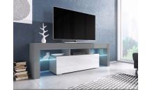 TV stolek TORO 138 RTV šedý mat/bílý lesk/šedý lesk