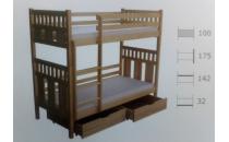 Patrová postel FABIAN II 90x200 včetně matrace a úložného prostoru