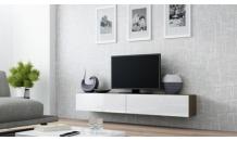 TV stolek VIGO RTV 180 latte mat/bílý lesk