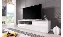 TV stolek MUZA RTV bílý mat/bílý lesk