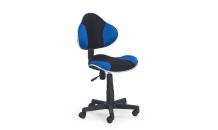 Dětská židle FLASH černá/modrá