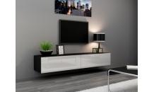 TV stolek VIGO RTV 180 černý mat/bílý lesk